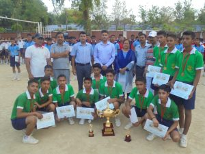 Inter House Volley ball Tournament on 04.05.2017