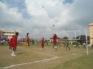 Inter House Volleyball Match Playing Photo