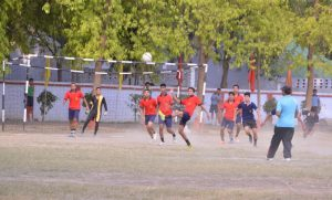 Match Playing Photo - Inter House Football Tournament 2016