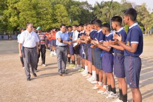Motivation by Chief Guest - Inter House Football Tournament 2016